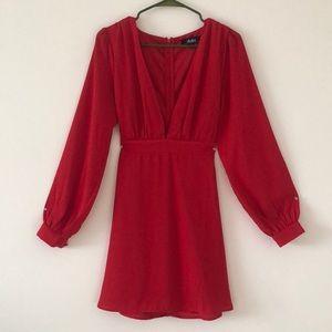 Silky Red Dress